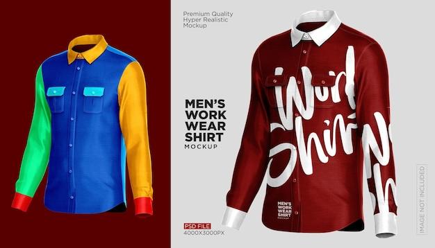 作業服シャツのモックアップ