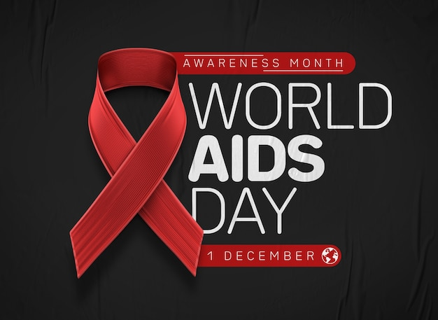 세계 에이즈의 날 인식의 달 프리미엄 PSD 파일