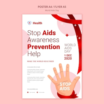 World aids day poster template