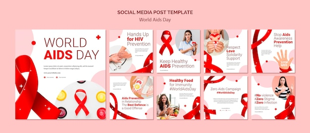 World aids day social media post