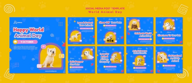 World animal day social media posts