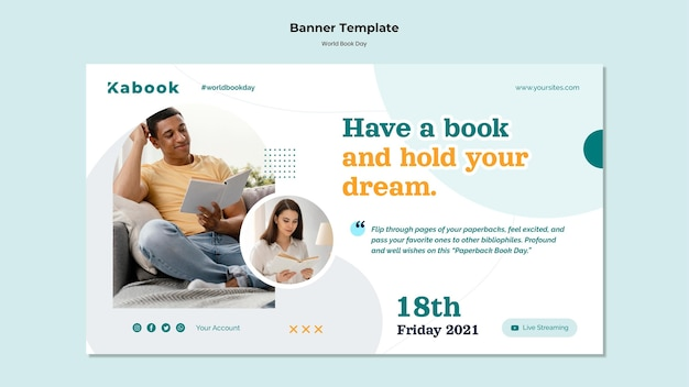 World book day banner template