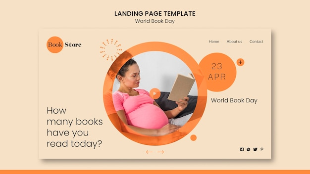 World book day home page template