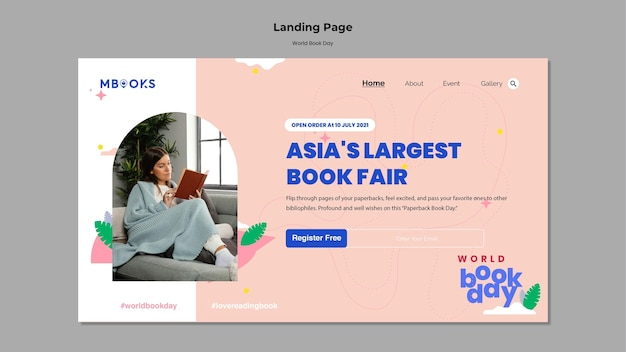 World book day landing page
