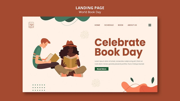 World book day web template