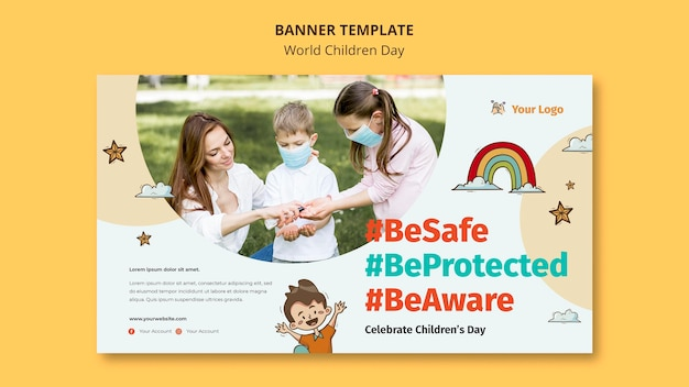 World children day banner template