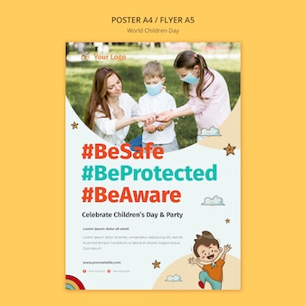 World children day poster template