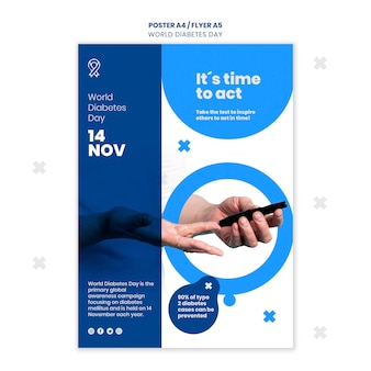 World diabetes day flyer template