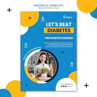 World diabetes day vertical print template