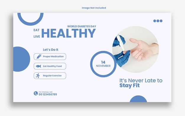 World diabetes day web banner template