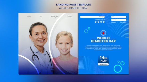 Веб-шаблон всемирного дня диабета