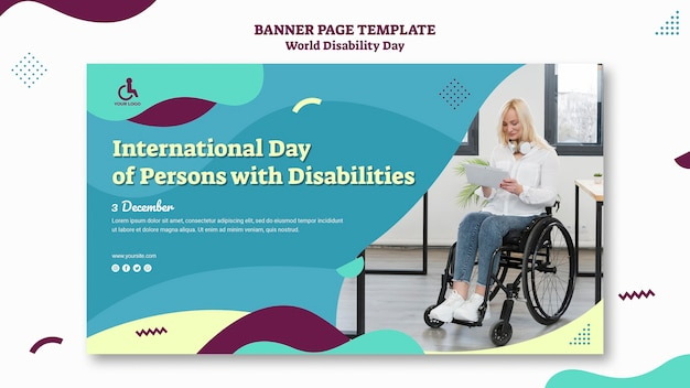 World disability day banner template