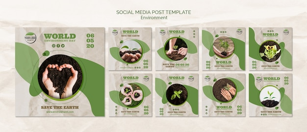World environment day social media post template