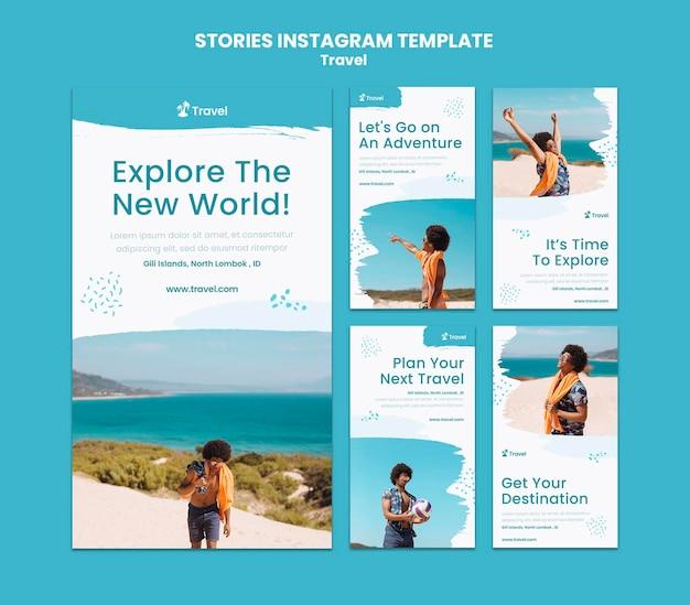 世界探検インスタグラムストーリーテンプレート