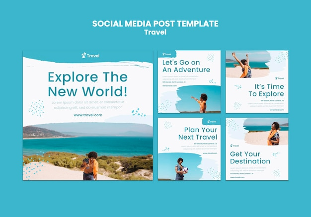 세계 탐험 소셜 미디어 게시물