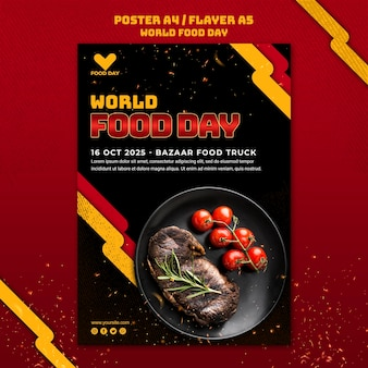 World food day template poster
