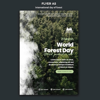 World forest day flyer template