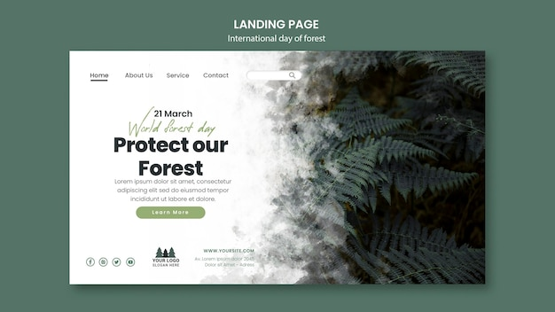 World forest day landing page template