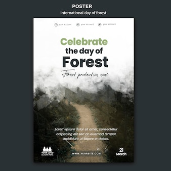 World forest day poster template
