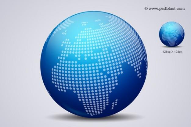 World globe design icon psd