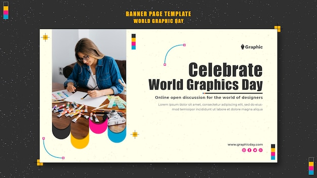 World graphics day banner template