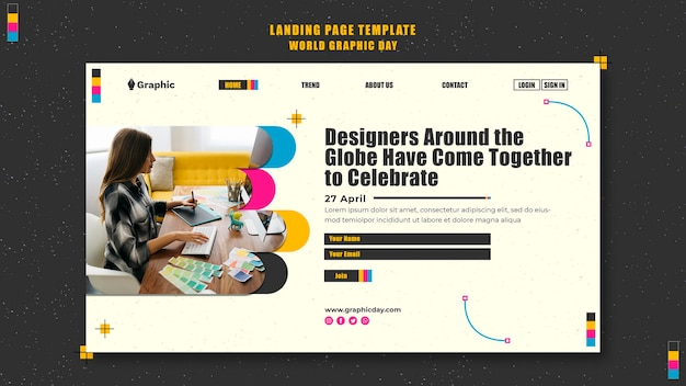 World graphics day landing page template