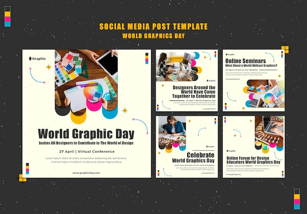 World graphics day social media posts