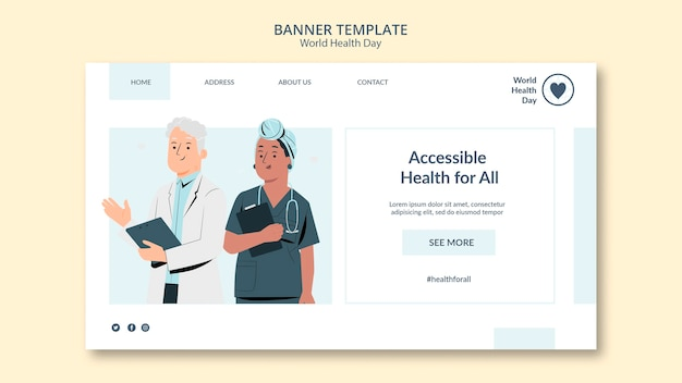 World health day banner template