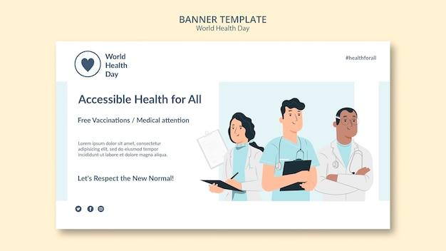 Modello di banner giornata mondiale della salute