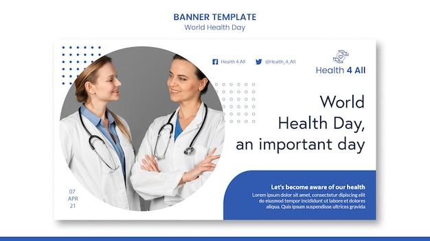 Banner di giornata mondiale della salute