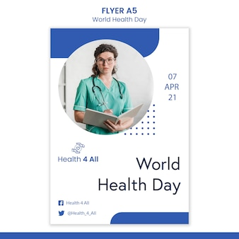 World health day flyer