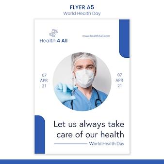 Volantino della giornata mondiale della salute