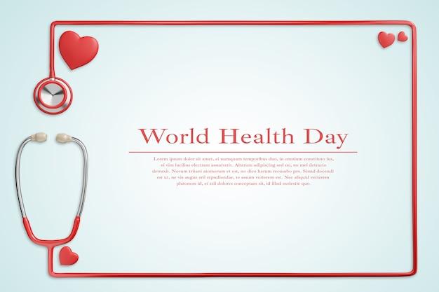 Макет всемирного дня здоровья, здравоохранения и медицинской концепции