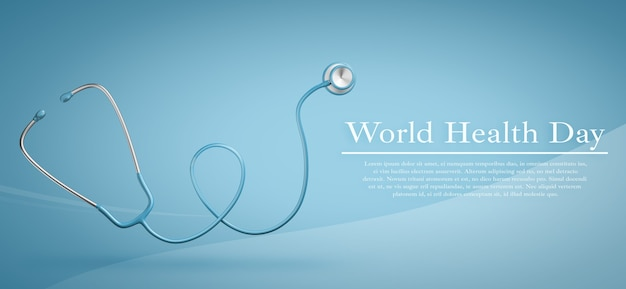 World health day, healthcare and medical concept mockup