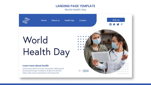 Pagina di destinazione della giornata mondiale della salute