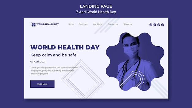 World health day landing page