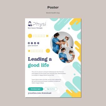 Modello di stampa per la giornata mondiale della salute