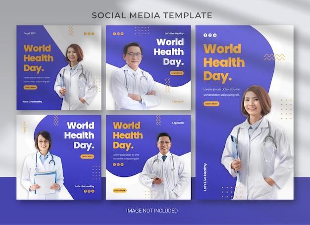 World health day social media template