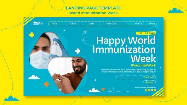世界予防接種週間のランディングページ