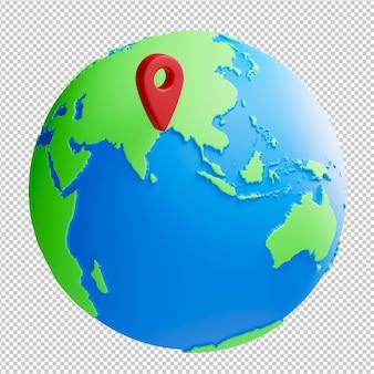 세계 위치 3d 그림