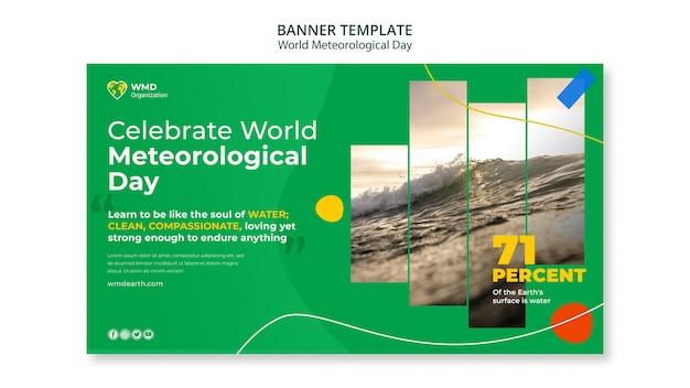 World meteorological day banner