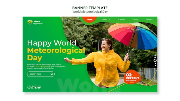 Всемирный метеорологический день баннер