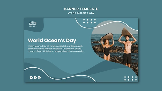 World ocean's day banner