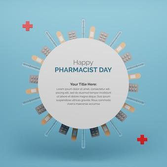 의학 기기와 함께 세계 약사의 날 축하