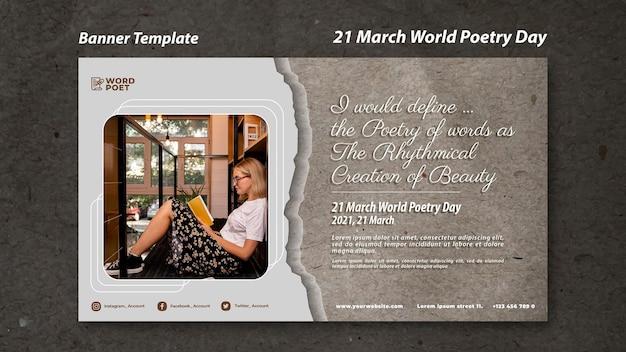Banner della giornata mondiale della poesia