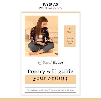 Volantino della giornata mondiale della poesia