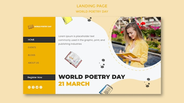 World poetry day landing page
