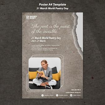 Poster della giornata mondiale della poesia