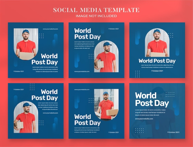 World post day social media banner and instagram post templ