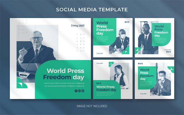 World press freedom day editable template for social media post banner